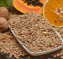 Lentils - Good source of dietary fibre